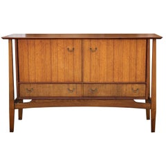 Teak Floating Top Credenza or Sideboard Designed by Ebenezer Gomme