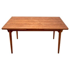 Teak Folding Dining Room Table, Danish Desigm, 1960s