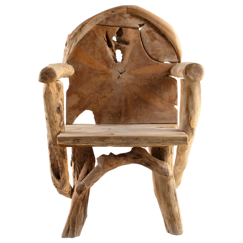 Teak Folk Art Dining Chair