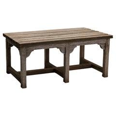 Teak Garden Table / Bench, England, Circa 1900