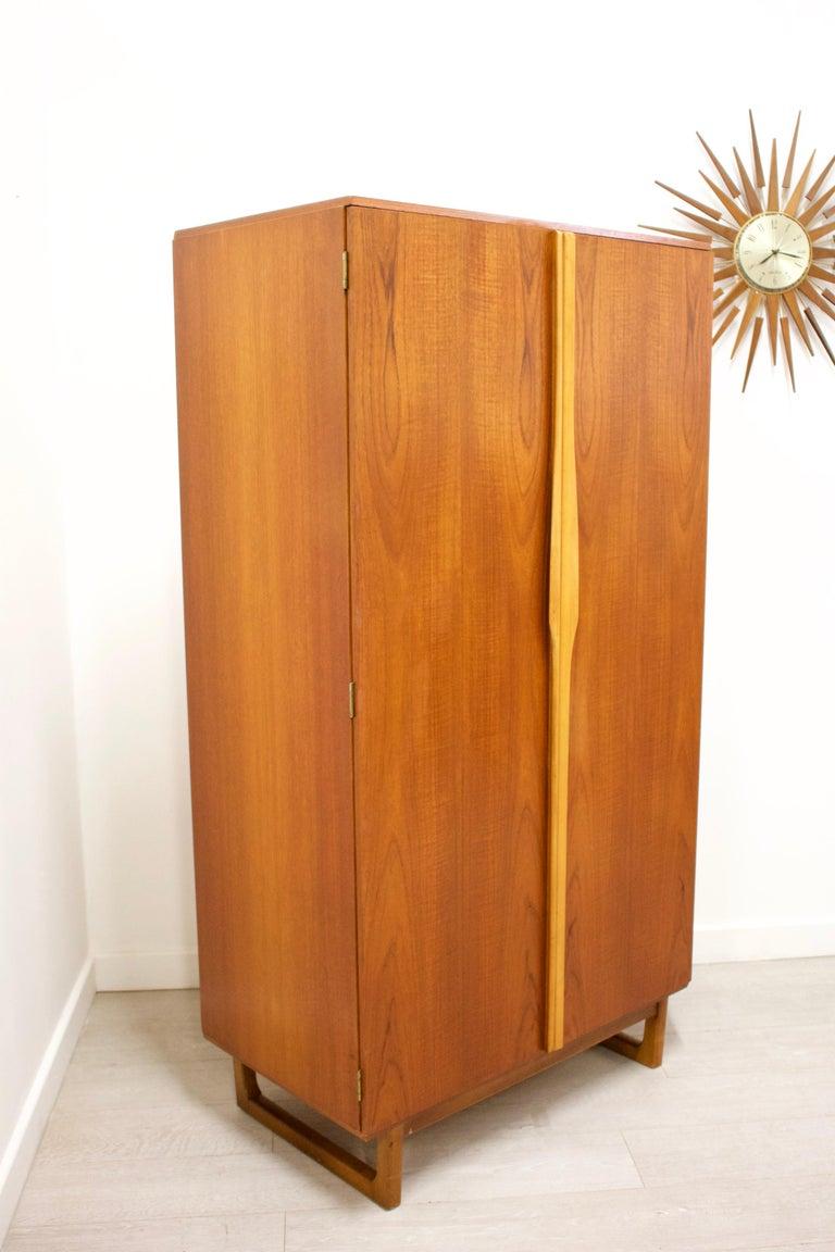 Veneer Teak Gentlemans Wardrobe from Stonehill, 1960s For Sale