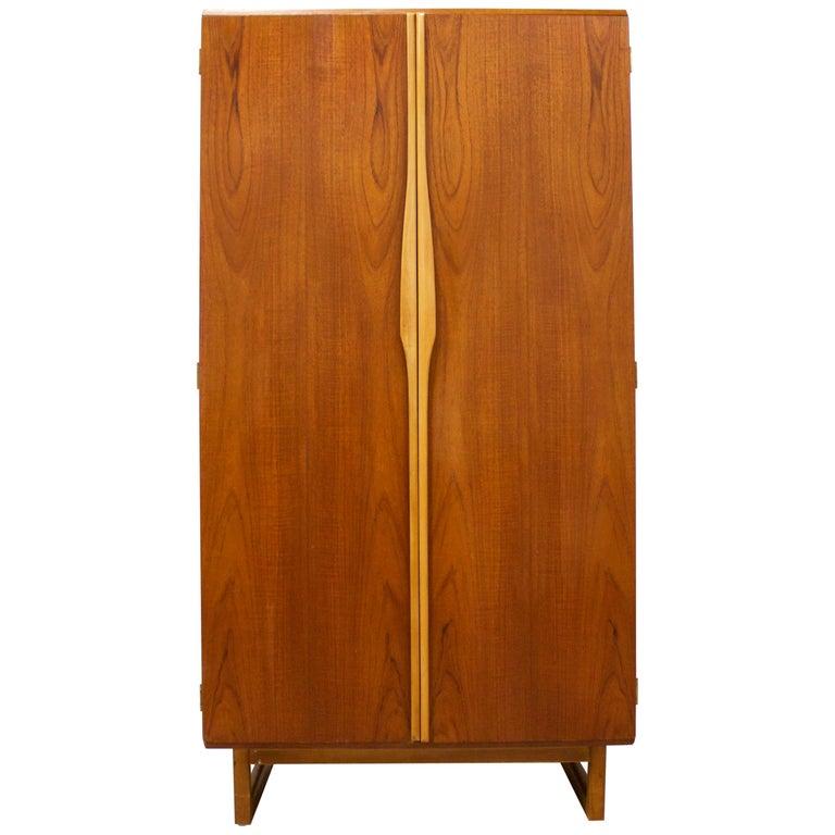 Teak Gentlemans Wardrobe from Stonehill, 1960s For Sale