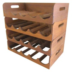 Teak Hanging Wine Racks