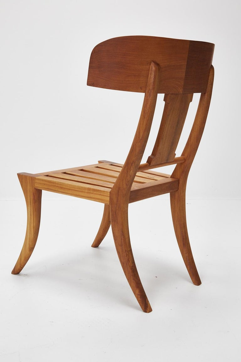 Teak Klismos Side or Dining Chair by Michael Taylor Collections For Sale 14