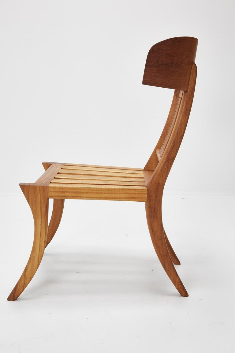 Teak Klismos Side or Dining Chair by Michael Taylor Collections For Sale 15