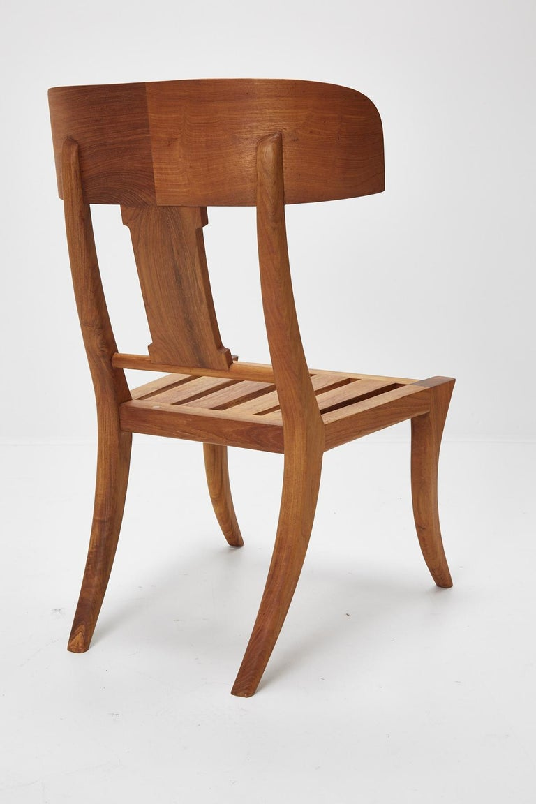 Teak Klismos Side or Dining Chair by Michael Taylor Collections For Sale 1
