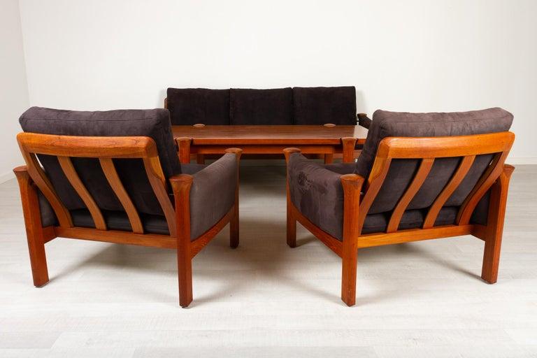 Mid-Century Modern Teak Living Room Set by Arne Vodder for Cado, 1970s For Sale