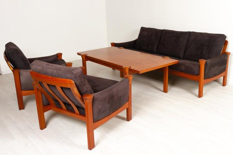 Danish Teak Living Room Set by Arne Vodder for Cado, 1970s For Sale