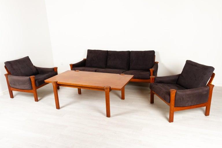 Teak Living Room Set by Arne Vodder for Cado, 1970s In Good Condition For Sale In Nibe, Nordjylland