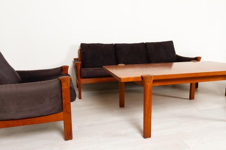 Late 20th Century Teak Living Room Set by Arne Vodder for Cado, 1970s For Sale