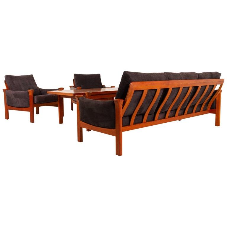 Teak Living Room Set by Arne Vodder for Cado, 1970s For Sale