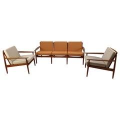 Teak Living Room Set by Svend Åge Eriksen for Glostrup, 1960s