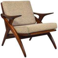Teak Lounge Chair by De Ster Gelderland, Netherlands, circa 1960