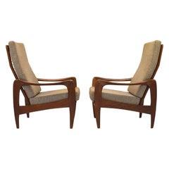 Teak Lounge Chairs by De Ster Gelderland, Netherlands, circa 1960