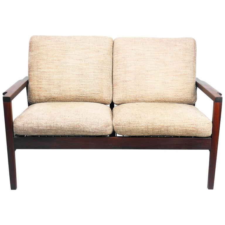 Teak Loveseat By Rs Associates Of Montreal For Sale At 1stdibs