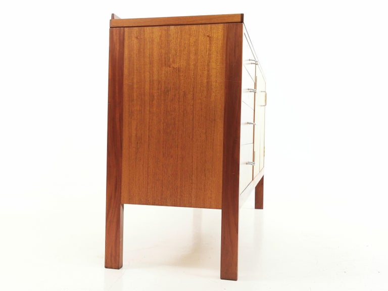 Mid-Century Modern Teak Midcentury Military Sideboard by Mann Egerton, 1970s For Sale