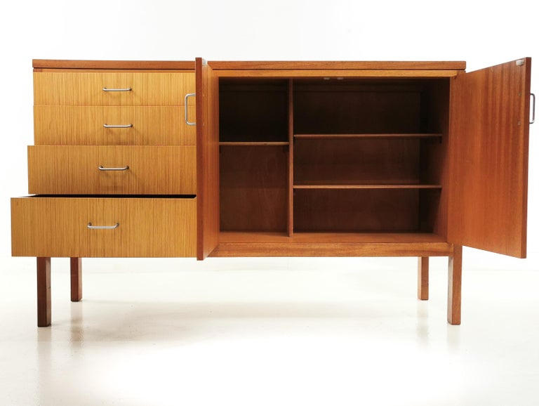 Teak Midcentury Military Sideboard by Mann Egerton, 1970s For Sale 2