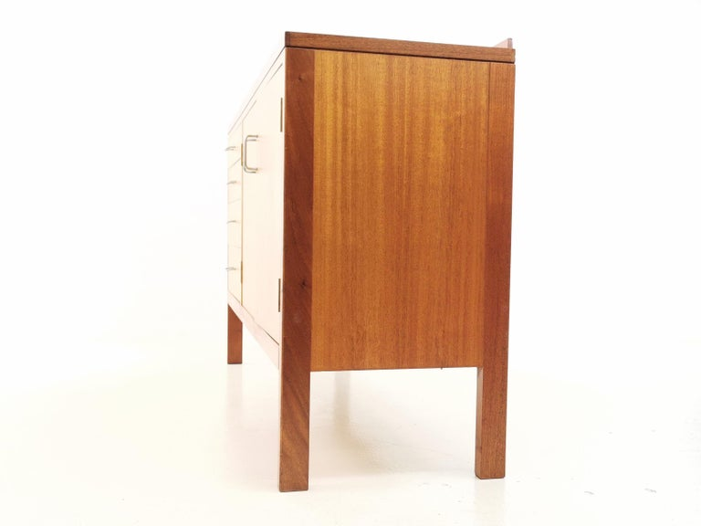 Teak Midcentury Military Sideboard by Mann Egerton, 1970s For Sale 3