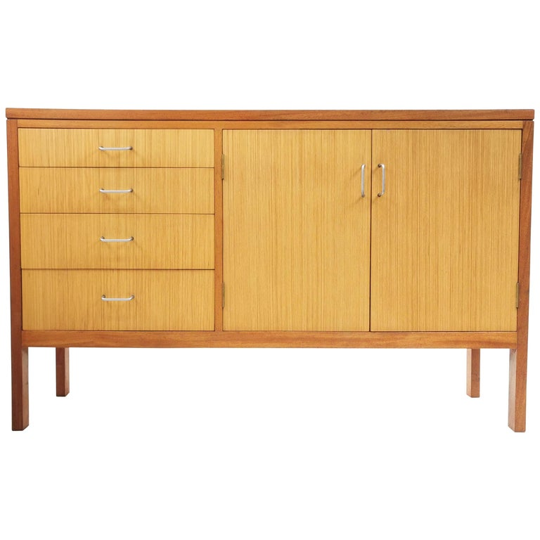 Teak Midcentury Military Sideboard by Mann Egerton, 1970s For Sale