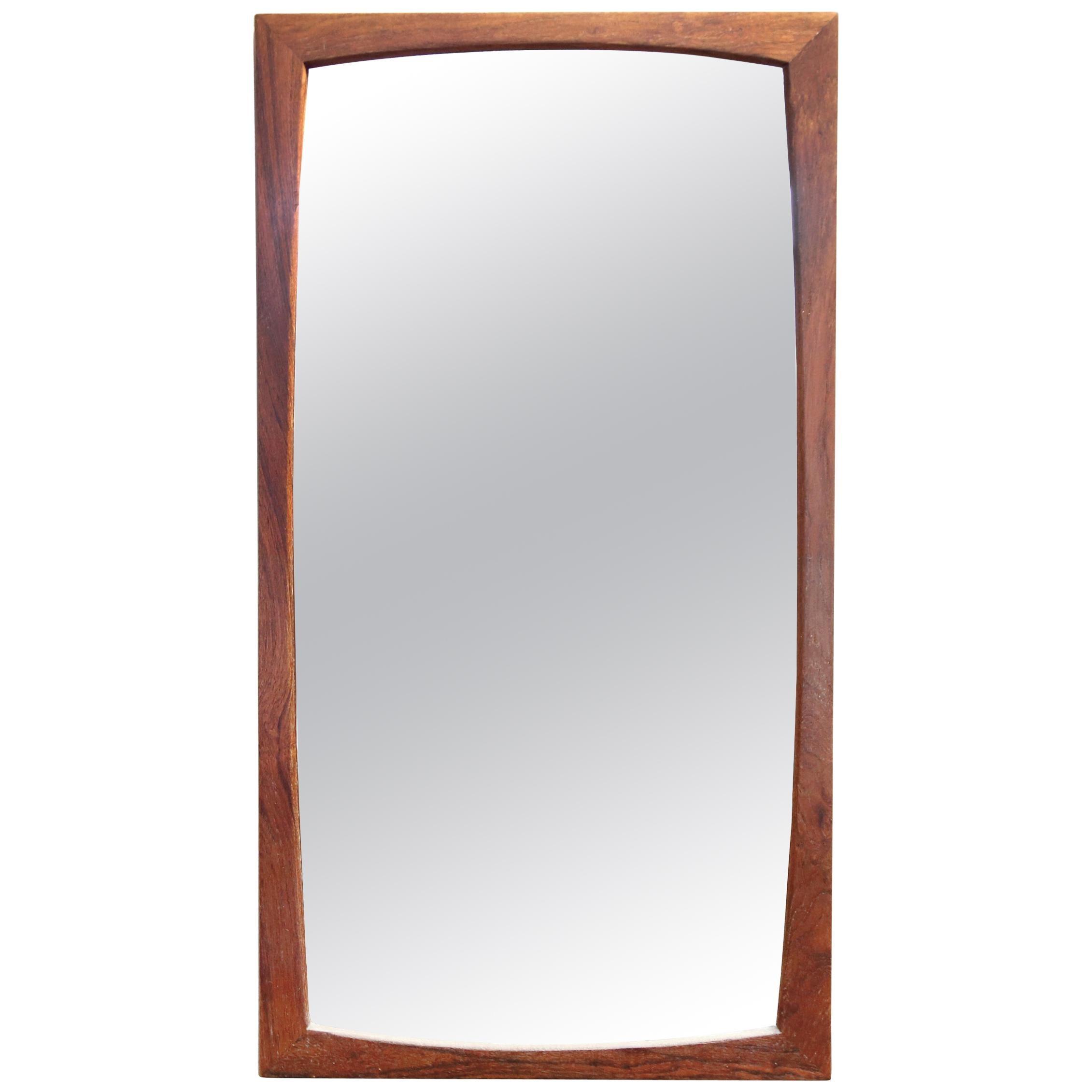 Teak Midcentury Mirror by Kai Kristiansen for Aksel Kjærsgaard Model No. 103