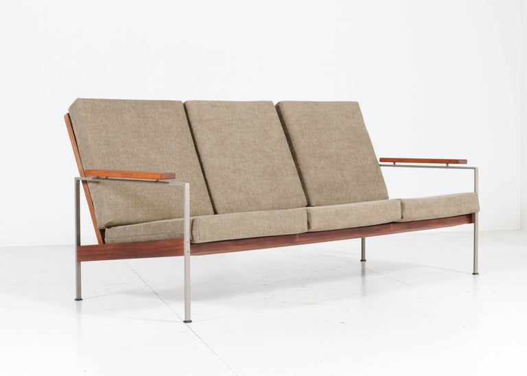 Dutch Teak Mid-Century Modern Bench or Sofa Attributed to Topform, 1960s For Sale
