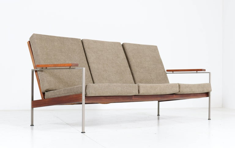 Teak Mid-Century Modern Bench or Sofa Attributed to Topform, 1960s In Good Condition For Sale In Amsterdam, NL