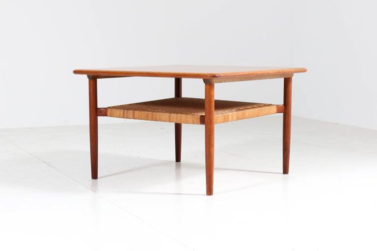 Teak Mid Century Modern Coffee Table By Gunnar Schwartz Denmark