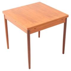 Teak Mid-Century Modern Extendable Dining Room Table, 1960s