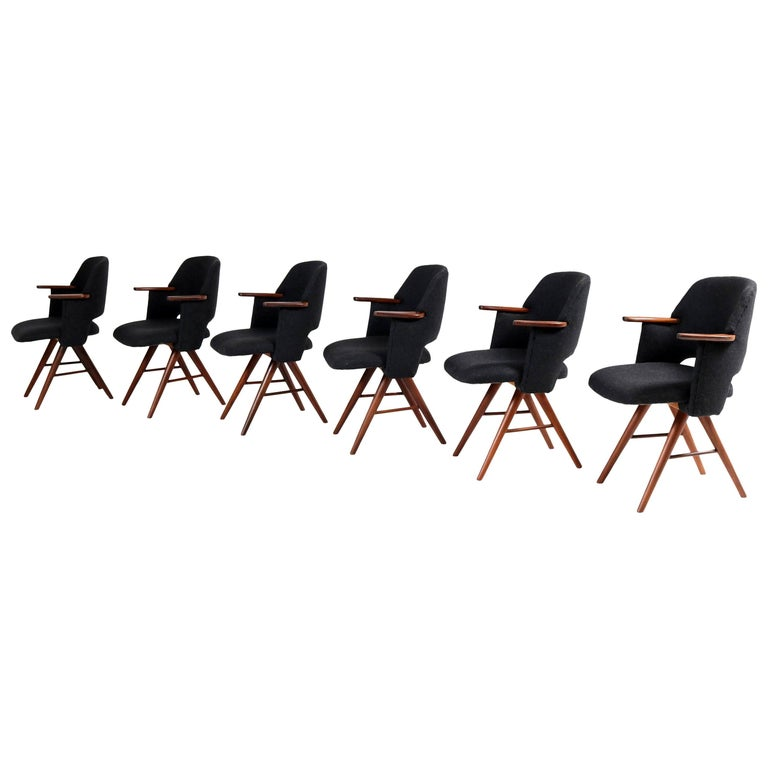 Teak Mid-Century Modern FT30 Dining Chairs by Cees Braakman for Pastoe, 1960 For Sale