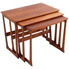 Teak Mid-Century Modern Nesting Tables by Johannes Andersen Denmark, 1960s