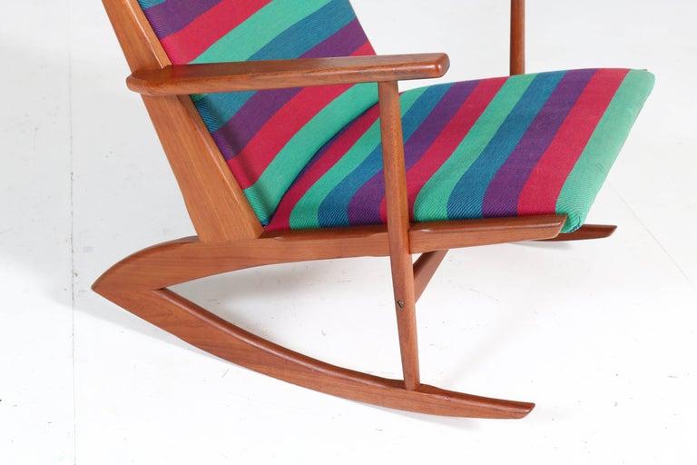 Teak Mid-Century Modern Rocking Chair by Holger George Jensen, 1958 For Sale 4