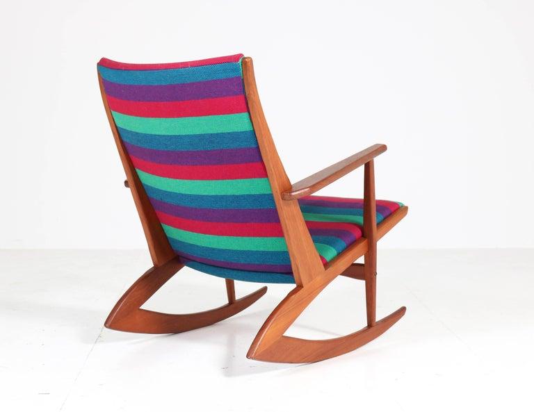 Teak Mid-Century Modern Rocking Chair by Holger George Jensen, 1958 For Sale 5