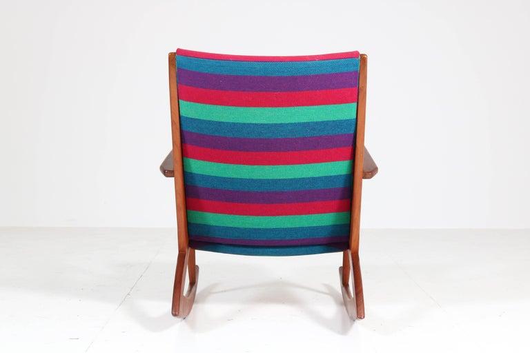 Teak Mid-Century Modern Rocking Chair by Holger George Jensen, 1958 For Sale 6