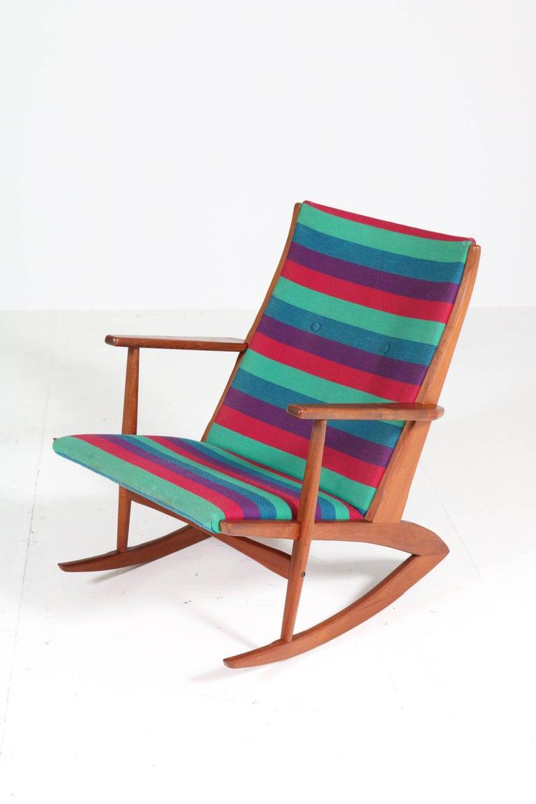 Mid-20th Century Teak Mid-Century Modern Rocking Chair by Holger George Jensen, 1958 For Sale
