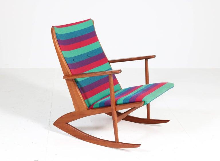 Teak Mid-Century Modern Rocking Chair by Holger George Jensen, 1958 For Sale 3
