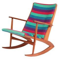 Teak Mid-Century Modern Rocking Chair by Holger George Jensen, 1958