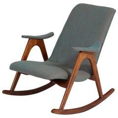 Teak Mid-Century Modern Rocking Chair by Louis Van Teeffelen for Webe, 1960s