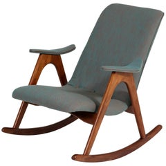 Teak Mid-Century Modern Rocking Chair by Louis Van Teeffelen for Webe, 1960s