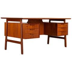 Teak Midcentury Desk by Gunni Omann for Omann Jun Møbelfabrik, 1950s
