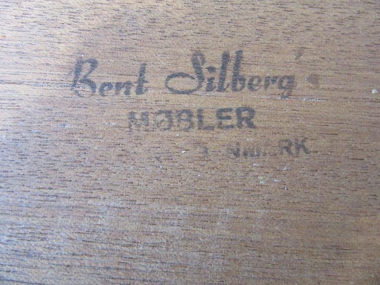Teak Nesting Side Table Set by Bent Silberg, Denmark For Sale 3