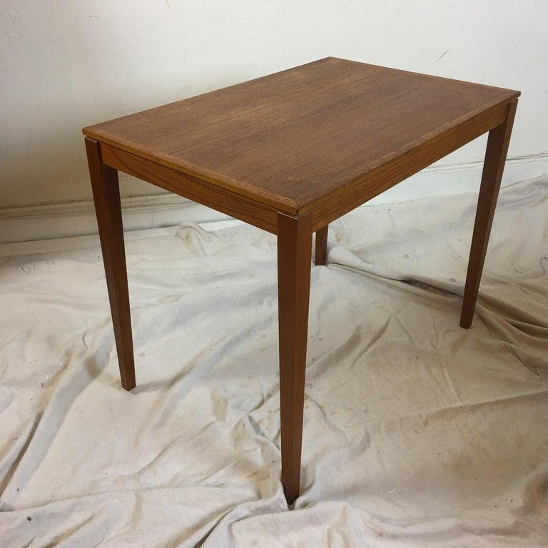 Teak Nesting Tables by Bent Silberg Mobler Denmark In Good Condition In Philadelphia, PA