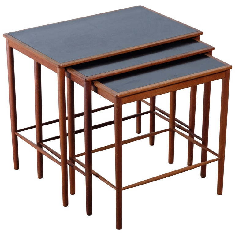 Grete Jalk for Poul Jeppesens Møbelfabrik nesting tables, 1950s, offered by Retro Delux
