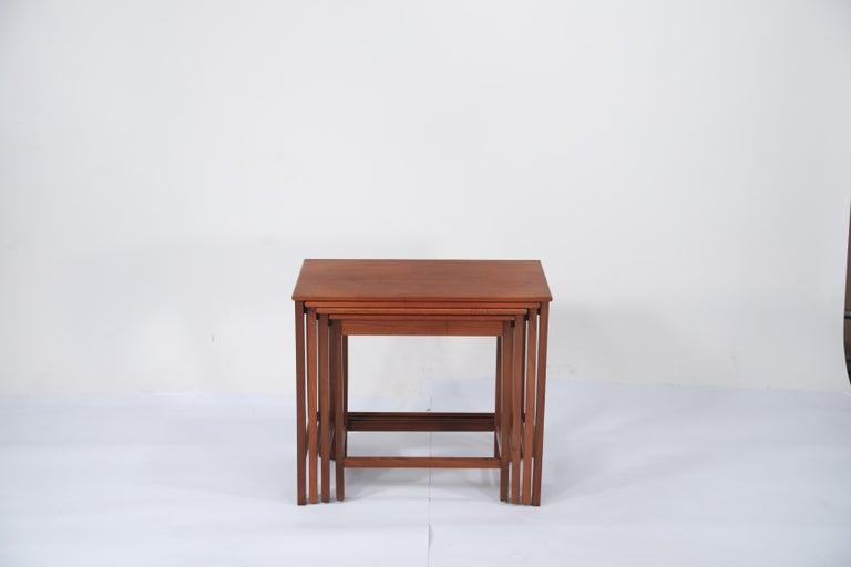Danish Teak Nesting Tables by Peter Hvidt and Orla Molgaard Nielsen for Illums Bolighus For Sale