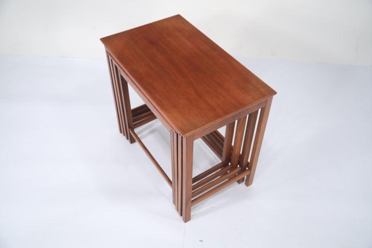 Teak Nesting Tables by Peter Hvidt and Orla Molgaard Nielsen for Illums Bolighus For Sale 1
