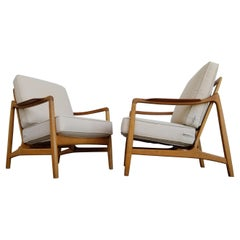 Teak & Oak Lounge Chairs by Tove & Edvard Kindt-Larsen