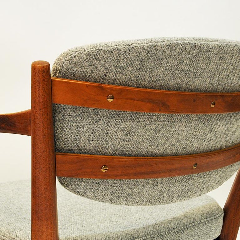 Teak Pair of the Kamin Chair by Kayser & Relling, Norway, 1950s For Sale 3