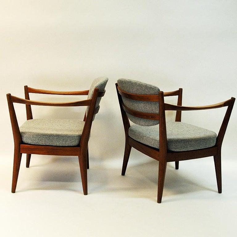 Scandinavian Modern Teak Pair of the Kamin Chair by Kayser & Relling, Norway, 1950s For Sale