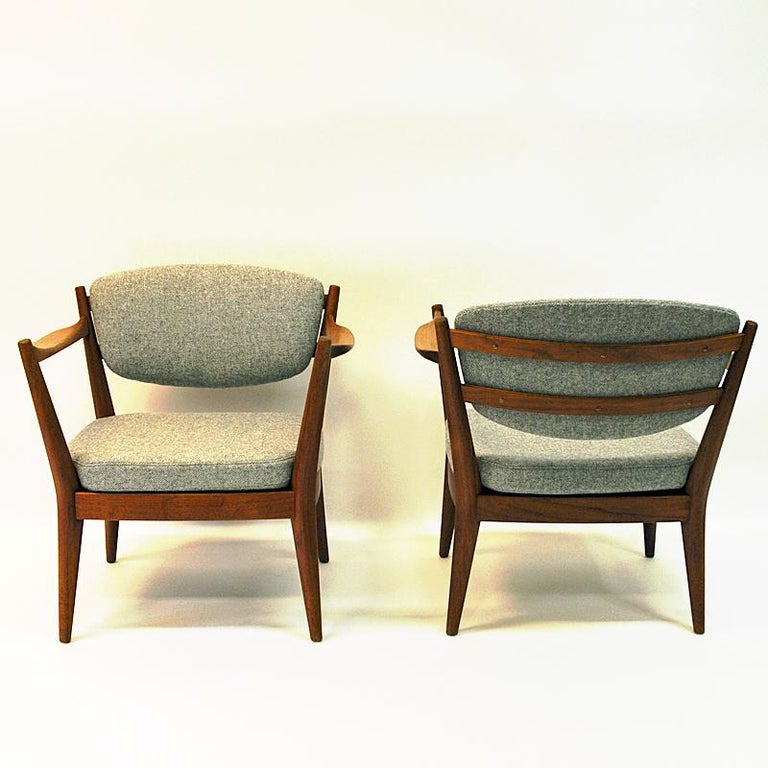 Norwegian Teak Pair of the Kamin Chair by Kayser & Relling, Norway, 1950s For Sale
