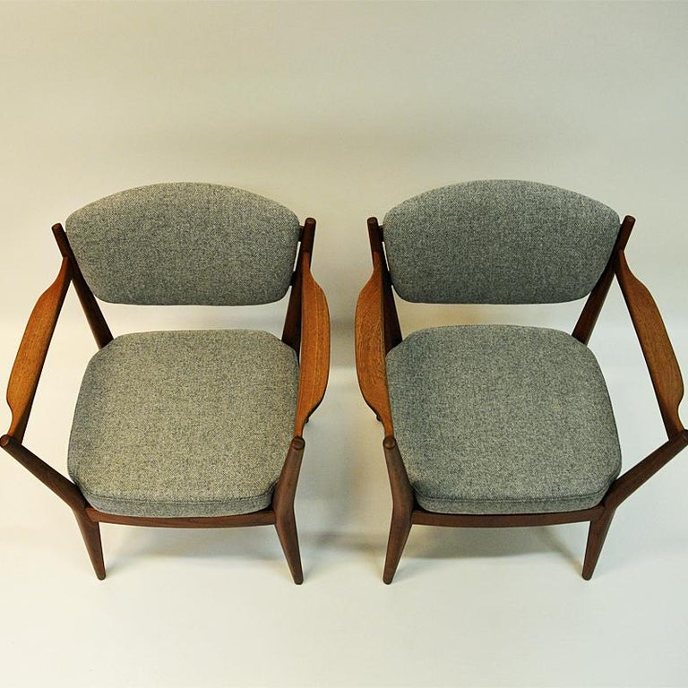 Teak Pair of the Kamin Chair by Kayser & Relling, Norway, 1950s In Good Condition For Sale In Stockholm, SE