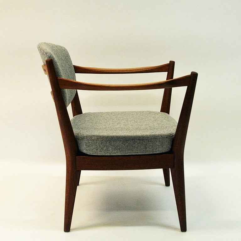 Wool Teak Pair of the Kamin Chair by Kayser & Relling, Norway, 1950s For Sale